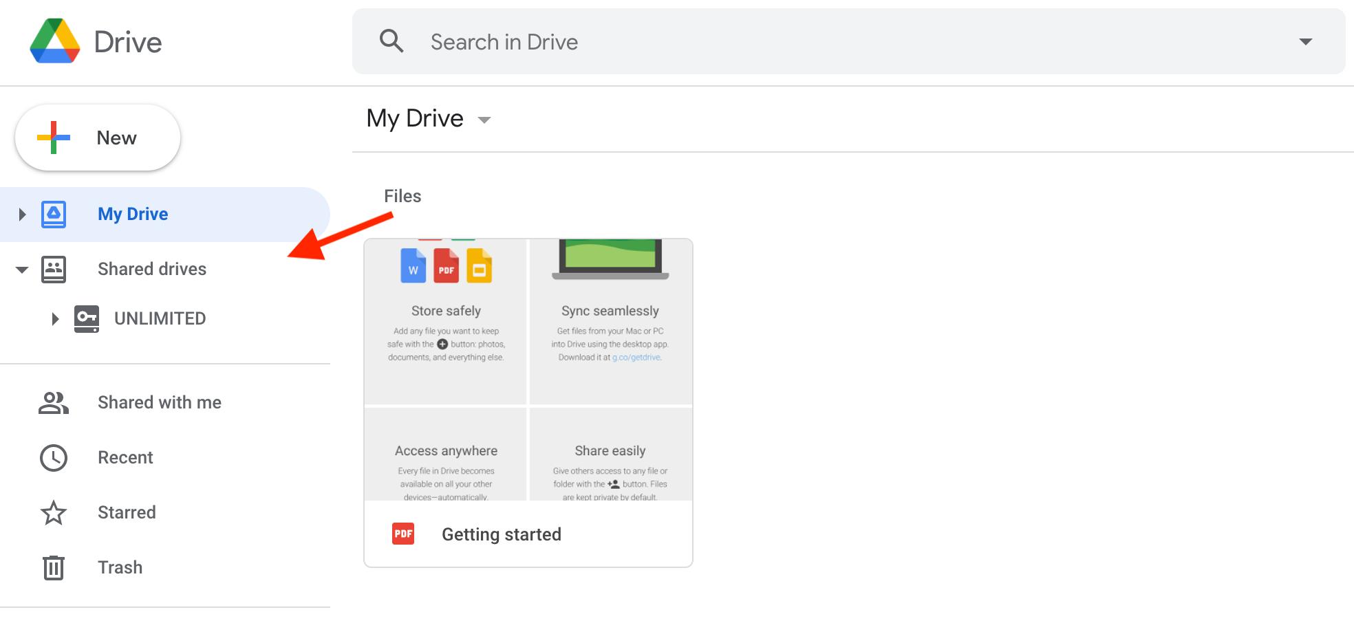 Shared drives